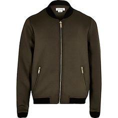 Girls khaki bomber jacket