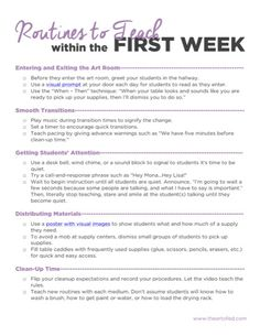 (NEW) First Day Activities for the Elementary Art Room - The Art of Ed