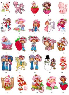 My sister and I had lots of Strawberry Shortcake friends as children.