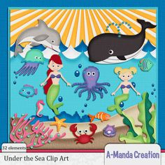 Under the Sea Themed Commercial Use Clip Art