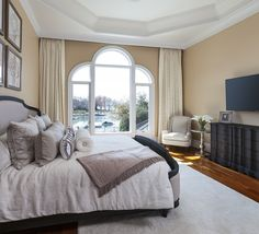 Lakeside Master Bedroom via Lauren Nicole Designs