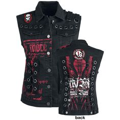 Eyelet Lace Up Vest - Vest by Rock Rebel by EMP