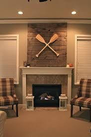 how to decorate a large wall over a fireplace - Google Search