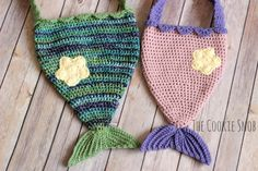 Mermaid Tail Bag Free Crochet Pattern