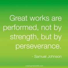 Perseverance works at the end!