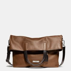 Thompson Foldover Tote in Leather