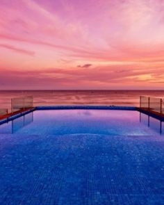 Hotel Cinco ( Punta de Mita, Mexico ) The rooftop infinity pool is in a prime spot for admiring the Pacific Ocean sunsets. #Jetsetter