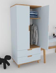 Kids Furniture Sets, Bedroom Furniture Design, Space Saving Furniture, Diy Furniture Plans, Pallet Furniture, Bedroom Decor, Closet Door Storage, Locker Storage, Baby Cupboard