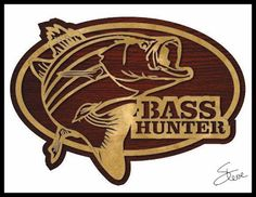 Bass Hunter pattern. #fishing #basstemplate Scrollsaw Workshop: Bass Hunter Scroll Saw Pattern. #freepatternsforwoodworking - donations gladly accepted by SteveGood