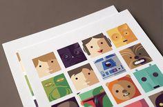 The Cute Star Wars Modern Art Print