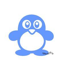 Pinguin mini Motiv Velour-Bügelbild --> für jedes Kind aus dem Kinderhaus auf genähten Stoffbeutel aufbügeln!