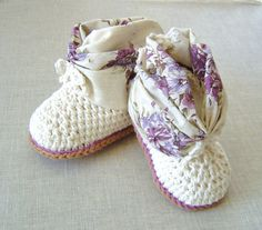 Summer Baby Booties CROCHET PATTERN easy baby by matildasmeadow