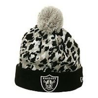 Oakland Raiders Sketched Knit Beanie by New Era Grey Beanie b07d446f2