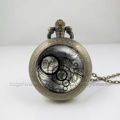Doctor Who Pocket Watch,Dr who Necklace,Doctor Who Timelord Seal Locket necklace,vintage pendant Pocket Watch Locket Necklace on Etsy, $9.99
