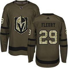 4a65fbf54 Adidas Vegas Golden Knights  29 Youth Marc-Andre Fleury Authentic Green  Salute to Service