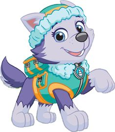 Everest by PawPatrolChase on DeviantArt Paw Patrol Pups, Sky Paw Patrol, Paw Patrol Cartoon, Paw Patrol Cake, Paw Patrol Party, Paw Patrol Birthday, Everest Paw Patrol, Personajes Paw Patrol, Animals And Pets