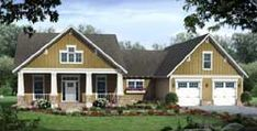 MonsterHousePlans - 2-311 Craftsman Style House Plans, Cottage House Plans, Country House Plans, New House Plans, Cottage Homes, Craftsman Exterior, Craftsman Ranch, Exterior Paint, Craftsman Cottage