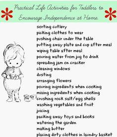 Montessori Inspired: Practical Life for Everyday.   Montessori Nature