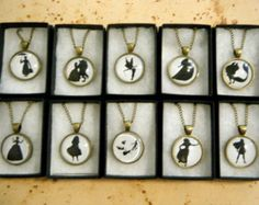 Disney Silhouette Cameo Necklace Collection (10 to choose from)