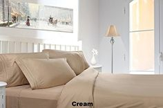 Split King 5PC Custom Sheet Set CREAM