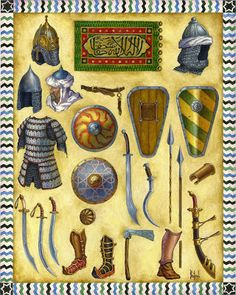 Arms and armours of Mamluk Sultanate of Egypt- 2 nd half of 13 th century Armadura Medieval, Ancient Persian, Medieval Armor, Knights Templar, Dark Ages, Military Art, Islamic Art, Middle Ages, Dungeons And Dragons