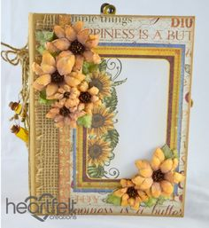 Heartfelt Creations | Classic Sunflower Flip Fold Album