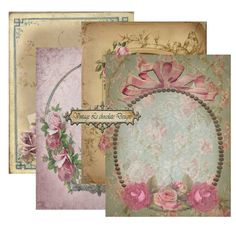 Vintage Shabby Chic Collage Sheet Vintage by VintageLeChocolate