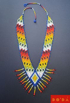 Hand-beaded Embera necklaces. The finest Colombian craft for a sustainable planet.  Available in our Etsy Shop: www.etsy.com/shop/DODAStore