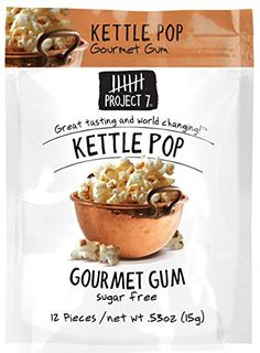 From the same folks who make the Birthday Cake gum!!! ~ ~ ~ Project 7 Gourmet Gum - Kettle Pop 15g (2 Packs)