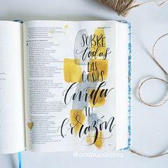 """✨Hoy Dios te dice: """"Por sobre todas las cosas cuida tu corazón, porque de él mana la vida."""" Proverbios 4:23"""