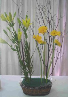 A vegetative arrangement is made by replicating the flowers in your garden. Find out how to make one here.
