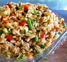"""Brown Rice Salad: """"A delicious, nutty rice salad that's a meal on its own or fantastic at a BBQ as an impressive side dish."""" -JNS"""