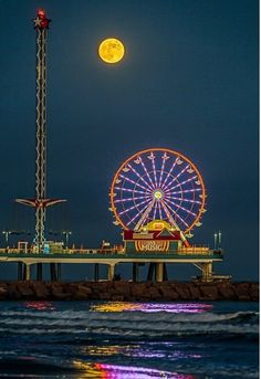 Galveston , Texas. Pleasure pier.  I'm leaving in the morning to go there Sunday