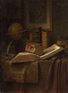 Stillleben mit Büchern by Alois Heinrich Priechenfried