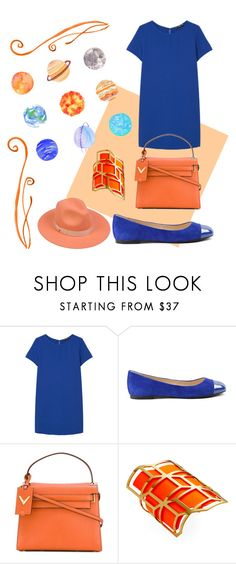 """""""Orange/Blue"""" by chclaudia ❤ liked on Polyvore featuring MANGO, ANNA BAIGUERA, Valentino, Pierre Hardy and Lack of Color"""