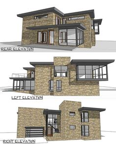 Plan 22322dr stately modern with garage modern house for Building house with side views