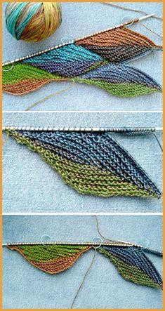 Knitting Fall Leaves - tutorial - knitting is as easy as 3 knitting . - Knitting for beginners,Knitting patterns,Knitting projects,Knitting cowl,Knitting blanket Crochet Hooks, Free Crochet, Knit Crochet, Crochet Stitch, How To Start Knitting, Knitting For Beginners, Knitting Stitches, Knitting Needles, Fall Knitting