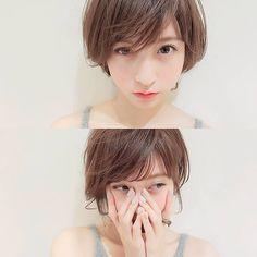 nice make up Medium Hair Styles, Natural Hair Styles, Shot Hair Styles, Japanese Hairstyle, Salon Style, Asian Hair, Girl Short Hair, Love Hair, Short Hairstyles For Women