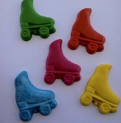 Set of 5 roller skate crayons  Birthday   Party by Krazeekrayons, $4.99