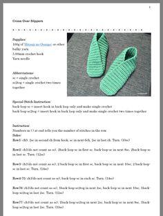 Knit Slippers Free Pattern, Crochet Slipper Pattern, Knitted Slippers, Crochet Shoes, Knit Crochet, Free Crochet, Knitting Yarn Diy, Easy Knitting Patterns, Knitting Stitches
