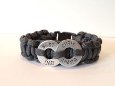 Personalized Father's Day Two Washer Paracord Macrame Bracelet Paracord Bracelets, Macrame Bracelets, Survival Bracelets, Great Father's Day Gifts, Cool Gifts, Gifts For Boys, Fathers Day Gifts, Washer Bracelet, Baby Blog