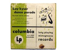 """Jim Flora (attributed) 10-inch record album design, 1949. Kay Kyser """"Dance Parade"""" LP by NewDocuments on Etsy"""