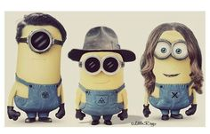 Tomo, Shannon and Jared as minions