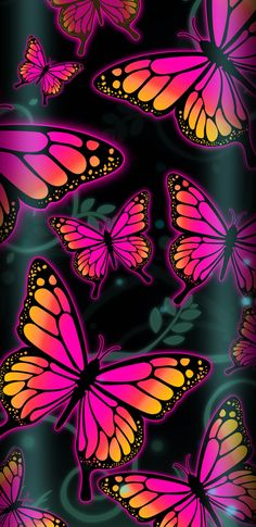 Butterflies Affect wallpaper by NikkiFrohloff - 24 - Free on ZEDGE™ Butterfly Background, Butterfly Wallpaper, Love Wallpaper, Colorful Wallpaper, Nature Wallpaper, Butterfly Drawing, Butterfly Painting, Butterfly Flowers, Beautiful Butterflies