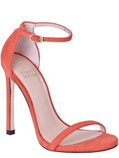 Stuart Weitzman Nudist in coral 25% off with code WINWIN25, ends 10/28    coral party shoes
