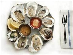 A plate of oysters at Neptune Oyster Seafood Recipes, New Recipes, Favorite Recipes, Craft Beer Fest, Raw Oysters, Dinner Party Menu, Eat To Live, Fish And Seafood, Food Styling
