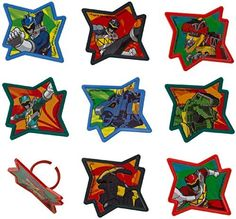 Power Rangers Dino Charge Rings (12). The perfect addition to make a Power Ranger party complete.Includes (12) rings.
