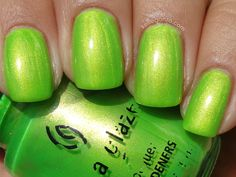 China Glaze Limonyte, why are you pretty and hard to find :(