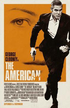 CIA☆こちら映画中央情報局です: ジョージ・クルーニーが哀愁のヒットマンを演じている渋い大人の殺し屋映画「アメリカン」の70年代テイストのヴィンテージで、クールなポスター!! - 映画諜報部員のレアな映画情報・映画批評のブログです
