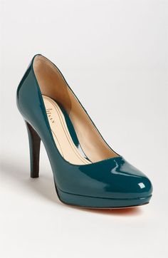 Teal Patent Pumps